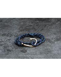 Footshop - Miansai Hook On Rope Bracelet Gold/ Indigo - Lyst