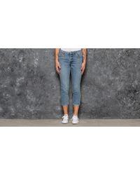 Lyst - Maison Kitsuné Washed Blue Kuroki Skinny Jeans in Blue 1808e653fa0