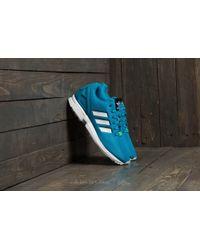 adidas Originals - Adidas Zx Flux Bold Aqua/ Footwear White/ Green Glow -  Lyst
