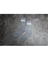 Stussy | Jacquard Logo Socks Grey Heather | Lyst