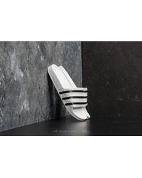 adidas Originals - Adidas Adilette White/ Core Black/ White - Lyst