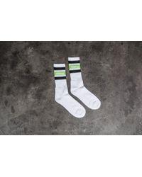 Stussy - Stripe Sp18 Crew Socks White - Lyst
