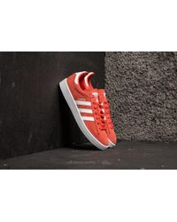 adidas Originals - Adidas Campus Trace Scarlet/ Ftw White/ Ftw White - Lyst