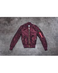 Footshop - Alpha Industries Ma-1 Lw Pm Iridium Wmn Burgundy - Lyst
