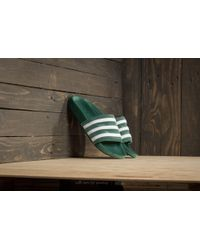 adidas Originals - Adidas Adilette Core Green/ Ftw White/ Ftw White - Lyst