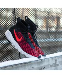 Nike | Air Footscape Magista Flyknit Black/ Bright Crimson-gym Red-clear  Grey