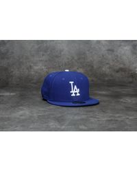 Lyst - Ktz 59fifty Grey Collection Los Angeles Dodgers Cap Black ... 449837b99efa