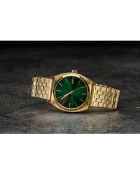 Footshop - Nixon Time Teller Gold/ Green Sunray - Lyst
