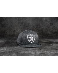 KTZ - 9fifty Jersey Tech Oakland Raiders Cap Grey/ White - Lyst