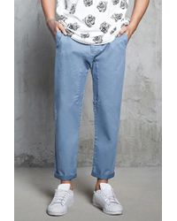 Forever 21 - Twill Woven Joggers - Lyst