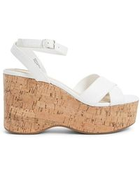 Forever 21 - Women's Strappy Cork Wedges - Lyst