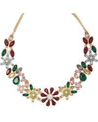 Forever 21 - Faux Gems Statement Necklace - Lyst