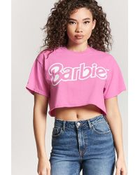 Forever 21 - Barbie Logo Cropped Tee - Lyst