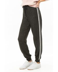 Forever 21 - Side-striped Heathered Joggers - Lyst