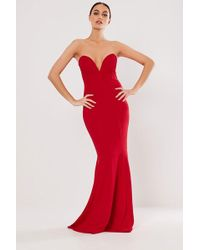 Missguided - Strapless Mermaid Gown At - Lyst