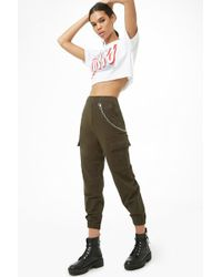 Forever 21 - Twill Cargo Joggers - Lyst