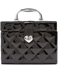 Forever 21 - Quilted Faux Patent Leather Train Case - Lyst