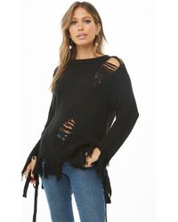 Forever 21 - Distressed Knit Jumper - Lyst