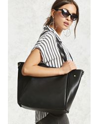 Forever 21 - Faux Leather Tote Bag - Lyst
