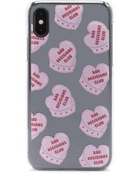 Forever 21 Bad Decisions Club Graphic Phone Case For Iphone X/xs , Pink/multi - Multicolour