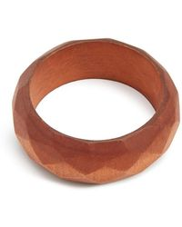 Forever 21 - Etched Wooden Bangle - Lyst