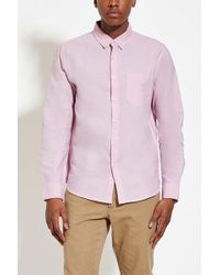 Forever 21 - Buttoned-collar Cotton Shirt - Lyst