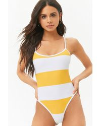 Forever 21 - Women's Striped Racerback One-piece Swimsuit - Lyst