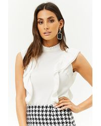 Forever 21 - Mock Neck Flounce Top - Lyst
