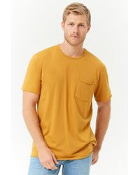 Forever 21 - Rolled-trim Knit Tee - Lyst