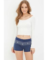 Forever 21 - Fair Isle-patterned Shorts - Lyst