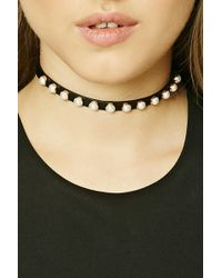 Forever 21 - Women's Studded Faux Leather Choker Necklace - Lyst