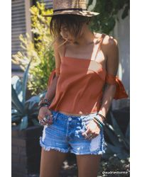 Forever 21 - Contemporary Open-shoulder Top - Lyst