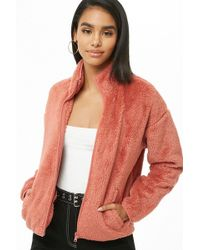 Forever 21 - Faux Fur Jacket - Lyst