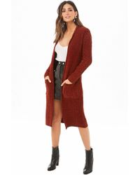 Forever 21 - Ribbed Knit Longline Cardigan - Lyst