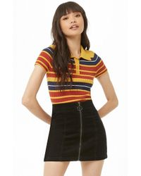 Forever 21 - Zippered Corduroy Mini Skirt - Lyst