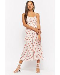 Forever 21 - Geo-striped Wide Leg Jumpsuit - Lyst