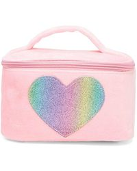 Forever 21 - Faux Fur Heart Makeup Bag - Lyst