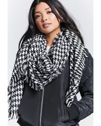 Forever 21 - Houndstooth Woven Scarf - Lyst