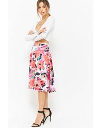 Forever 21 - Floral Flared Skirt - Lyst