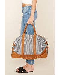 Forever 21 - Striped Canvas Travel Bag - Lyst