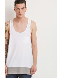 Forever 21 - 's Colorblocked Racerback Tank Top - Lyst