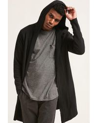 Forever 21 - Longline Hooded Cardigan - Lyst