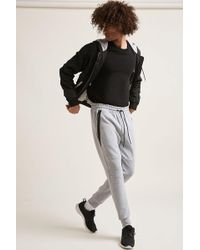 Forever 21 - Contrast Heathered Knit Joggers - Lyst
