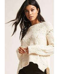 Forever 21 | Open-knit Lace-up Sweater | Lyst