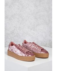 Forever 21 - Crushed Velvet Low-top Sneakers - Lyst