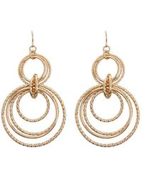 Forever 21 - Interlocked Hoop Drop Earrings - Lyst