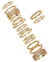 Forever 21 - Rhinestone Stackable Ring Set - Lyst