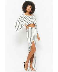 Forever 21 - Striped Flounce Maxi Dress - Lyst