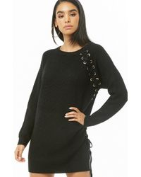 Forever 21 - Vented Lace-up Sweater Dress - Lyst