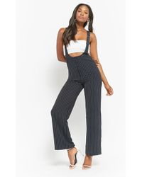 Forever 21 - Pinstriped Overall Jumpsuit - Lyst